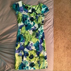 Dresses & Skirts - Green and blue mid-thigh dress